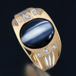 Apex Cat Eye Mens Ring