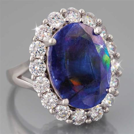 Aphrodite Sapphire & Pearl Ring