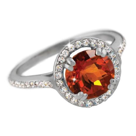 Citrine & Diamond<em>Aura</em>&reg; Ring
