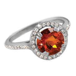Citrine & Diamond<em>Aura</em>® Ring