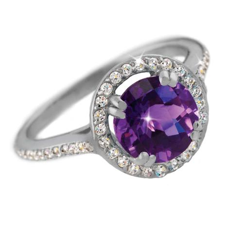Amethyst DiamondAura Ring