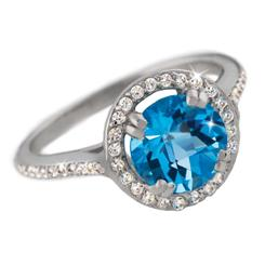 Blue Topaz & Diamond<em>Aura</em>&reg; Ring