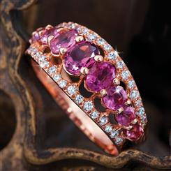 Empress Pink Tourmaline Ring