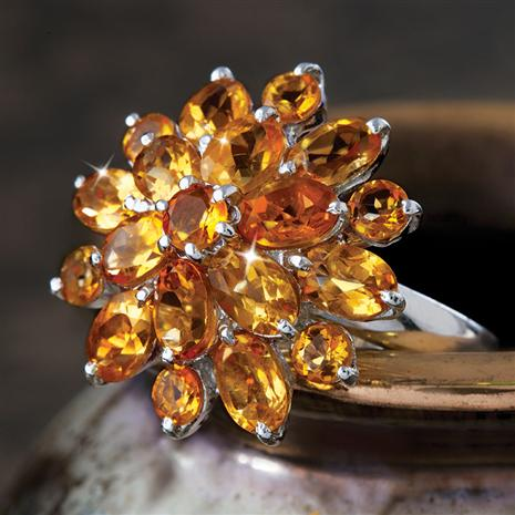 Solis Citrine Ring