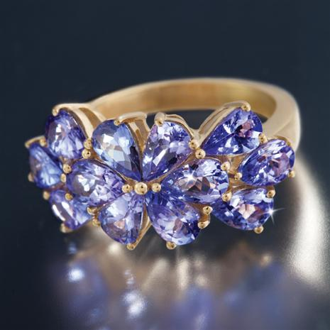 Saintpaulia Tanzanite Ring