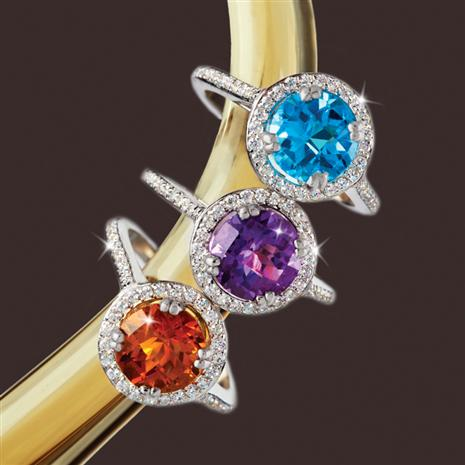 Gemstone Rings Set of 3