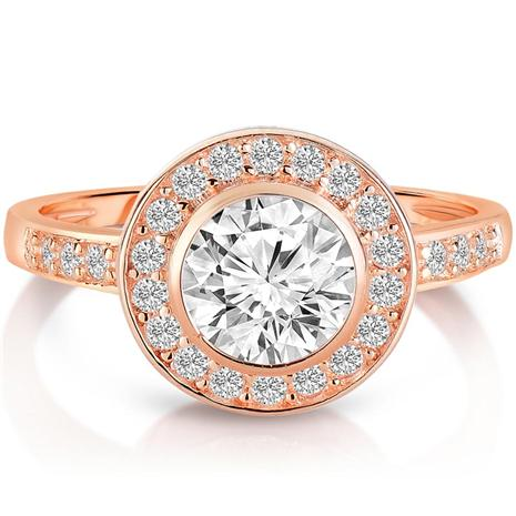Sun and Stars Rose Gold-finished DiamondAura Ring