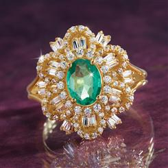 Green Star Zambian Emerald Ring