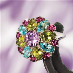 Primavera Genuine Gemstone Ring