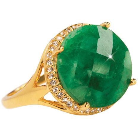 Holly Emerald Ring