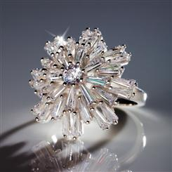DiamondAura® Silent Night Snowflake Ring