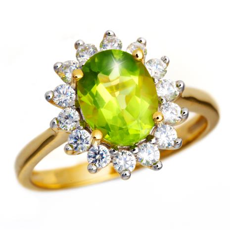 Peridot & Diamond Aura Ring