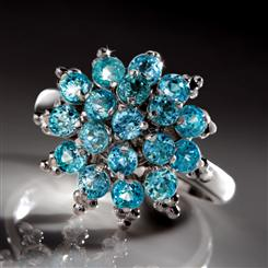 Blue Hyacinth Sterling Silver Ring