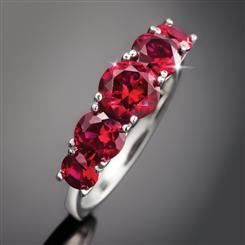 Ruby Red Quintet Ring