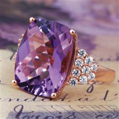 Amethyst Catherine Ring