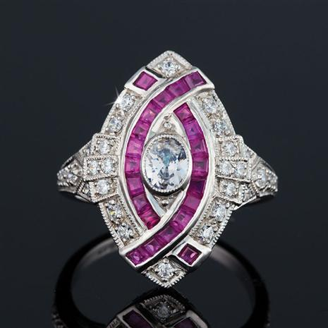 Ruby Charleston Ring