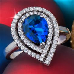 Diamond<em>Aura</em>&reg; Celebration Sapphire Blue Ring