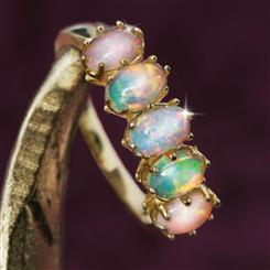 Five-Star Opal Anniversary Ring