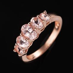 Five Fortunes Morganite Ring