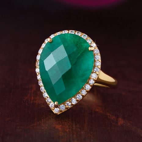 Umiña Teardrop Emerald Ring