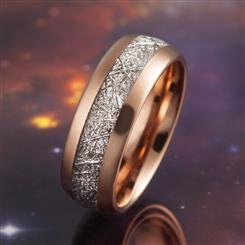 Meteorite In Tungsten Ring