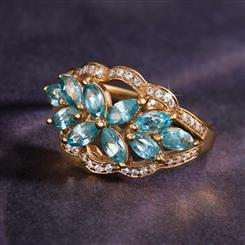 Perpetua Blue Zircon Ring