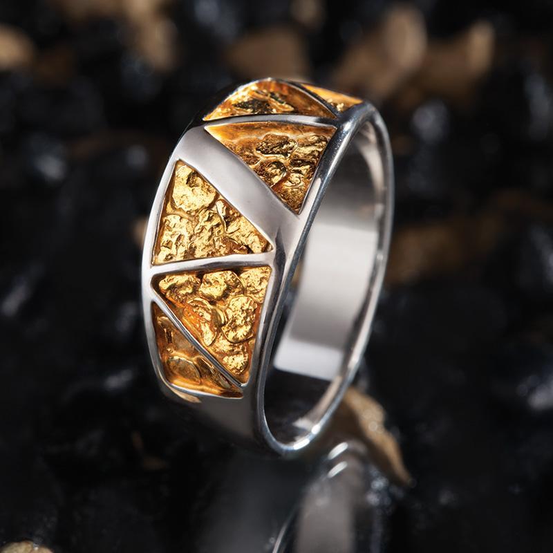e658c50fbfb28 Stauer Gold Nugget Mens Ring w7589 | Stauer.com