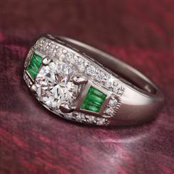 Mrs. Fitzgerald Emerald Ring