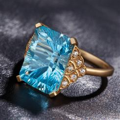 Swiss Blue Topaz Electra Ring