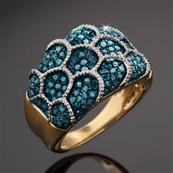Millionaires Blue Diamond Ring