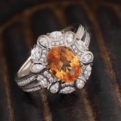 Imperial Spice Hessonite Ring