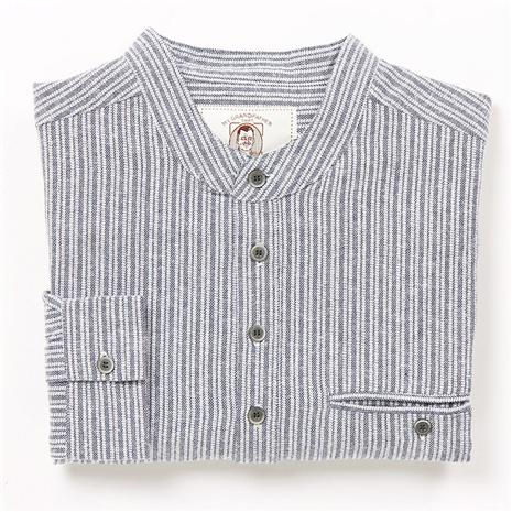 Grandfather Grey Flannel Pinstripe Shirt