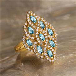 Harlequin Blue  Zircon Ring