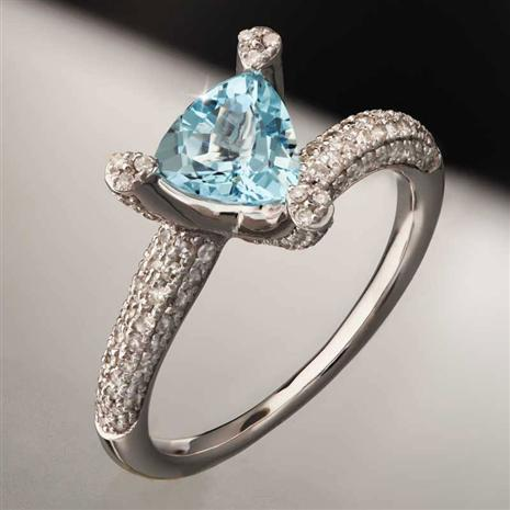 Aquamarine & Diamond Ring (1.78 ctw)