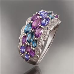 Gem Trio Ring