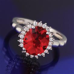 Red Hot Helenite Ring