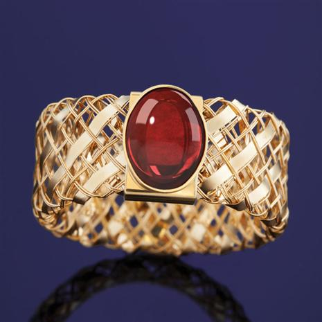 Via D'Oro Garnet Ring