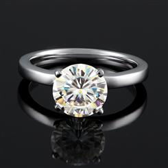 ULTRANOVA Moissanite Collection Solitaire Ring (2 Carat)