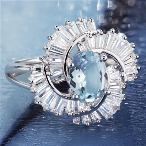 Aquamarine Storm Ring