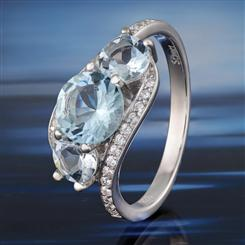 Aquamarine Voyager Ring