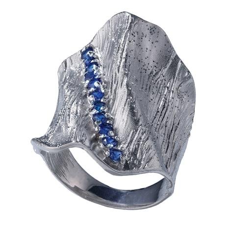 Tuscan Waves Ring (Sapphire)