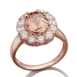 Blushing Pamirite Ring