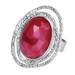 Ruby & Mother of Pearl Inspiration Ring  (12 ctw)