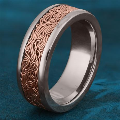 Copper Circuitry Ring