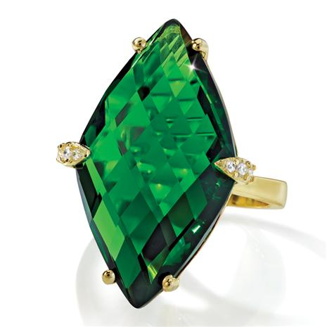 Green Goddess Helenite Ring