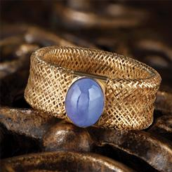 14K Yellow Gold Tanzanite Ring (1-1/2 ctw)