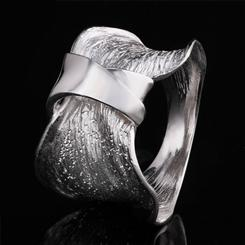 Scultura Sterling Silver Moderna Ring