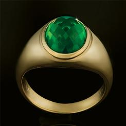 Mens Volcanic Helenite Ring