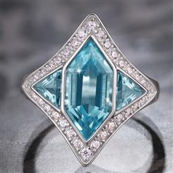 Blue Topaz Next Step Ring  (2-1/4 ctw)