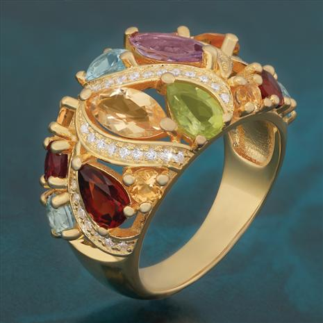 Mixed Gemstone Ring